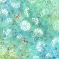 Canvas print of original aqua mixed media by AlisonJGilbertArt, £85.00