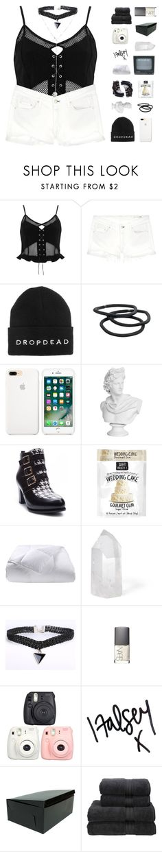 """""""♡ they came again in the night under crescent moon"""" by nervous-touch ❤ liked on Polyvore featuring River Island, rag & bone/JEAN, Goody, Ann Creek, Phoenix Down, Mapleton Drive, NARS Cosmetics, Fujifilm, Christy and Cartier"""