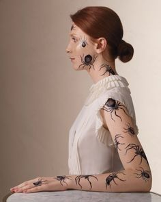 martha stewart - temporary tattoos using an ink jet printer for Halloween.