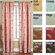 Jakarta Rod Pocket 84-inch Curtain Panel | Overstock.com Shopping - Great Deals on Curtains (Family Room?)