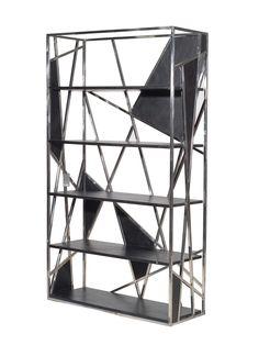 Black Steel Spider's Web Bookcase - Gilt Home - modern interior design steampunk gothic