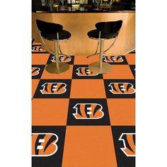 Cincinnati Bengals NFL Team Logo Carpet Tiles