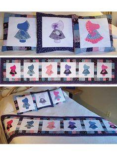 Sunbonnet Sue Bed Runner & Pillows Pattern