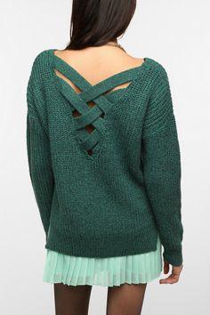 Sparkle & Fade Crisscross Back Sweater