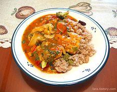 인도식 치킨 커리 만들기(티카 마살라 카레 소스 이용)