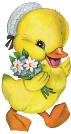 EASTER DUCK CLIP ART
