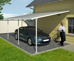 Feria Carport -- This would be a nice idea for putting against the side of the house in the back.