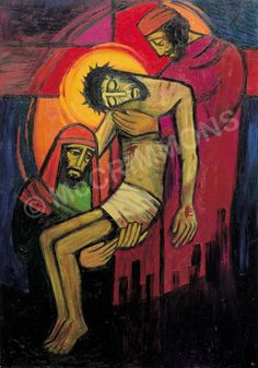 13. Jesus is taken down from the cross by The Benedictine Sisters of Turvey Abbey #Lent