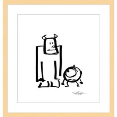 This droll rendition of ''Sullivan and Mike'' by Pixar's Pete Docter has been digitally reproduced on archival paper in a signed, hand-numbered limited edition.