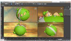 Planeta Kaio - LowPoly 3D Max by Juan Camilo Bedoya Vargas, via Behance