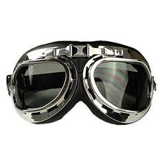 HAMIST WWII RAF Aviator Pilot Motorcycle Half helmet Goggles Smoke HAMIST