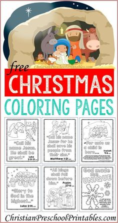 Christmas Bible Coloring Pages - A Christ-Centered Christmas 3d Christmas, Christian Christmas, Preschool Christmas, Christmas Activities, A Christmas Story, Christmas Colors, Christmas Nativity, Christmas Projects, Christmas Traditions