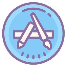 App store icons in Cute Color style for graphic design and user interfaces App Iphone, Iphone Logo, Iphone App Layout, Iphone App Design, Iphone Icon, Application Telephone, Logo Application, Application Download, Wallpaper App