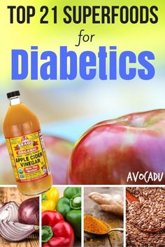Top 21 Superfoods for Diabetics to Lose Weight | Diet for Diabetics | Diabetes Foods | Avocadu.com #diabetesdiet
