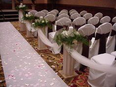 Shannon's Custom Florals Church Wedding Decorations (11)
