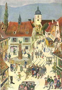 20 Best Hansi Images Alsace Illustration Travel Posters