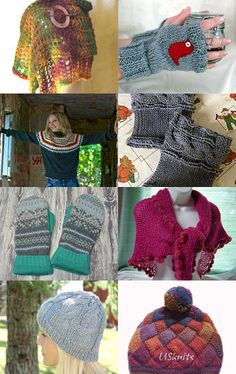 KnittingGuru Autumn in Vermont Shawl is featured in this Warm and Cozy Etsy Treasury