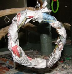 How to make your own newspaper foraging swing - a great bird toy when you're on a budget