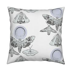 Moorland Moths on Catalan by artist_chloe_birnie   Roostery Home Decor