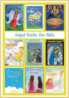 Books for Kids: Angels - There are enough Angel themed books here to last a couple weeks or to give you plenty of choices for the best fit(s) for your family. Best Christmas Books, Christmas Crafts, Book Lists, Reading Lists, Religious Books, Early Reading, Kids Learning Activities, Early Literacy, Children's Literature