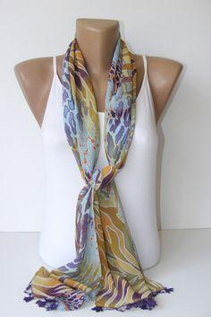 SALE fashionchiffon scarvescolorfuluniquewoman scarvesfor by seno, $15.00