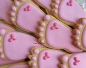 Tiny little baby feet cookies