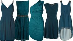 bridesmaid+dress+teal | Teal-Peacock Bridesmaid Dresses: Wedding Inspiration & Ideas