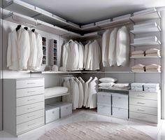 Walk-in wardrobe from Giessegi Walk In Wardrobe, Walk In Closet, Closet Bedroom, Closet Space, Wardrobe Planner, Personal Storage, Cuisines Design, Dressing Room, My Dream Home