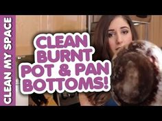 How to Clean the Bottom of a Pot or Pan! Useful Kitchen Cooking Ware Cleaning Tips (Clean My Space) - YouTube