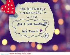 awesome U miss U, I miss you - Funny Quotes