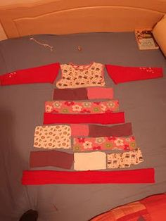 """""""Up cycled dress made from favorite clothes your kid has outgrown."""""""