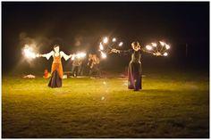 Fire performers to finish wedding celebrations www.ellymacphotos.com/