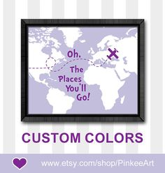 dr seuss nursery decor purple baby girl nursery ideas nursery map print oh the place you'll go toddler decor dr seuss quote kids playroom by PinkeeArt, $11.00