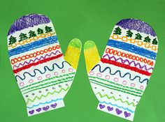 Silly Symmetrical Mittens Craft