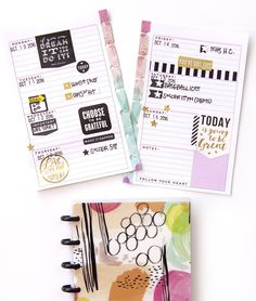 """Once the word got out that our new MINI Happy Planners™ were beginning to  show up on Michaels store' shelves earlier this month, you planner babes  wasted no time hunting them down, taking them home, and jazzing them up!  Today we're sharing how the first full October week came together for mambi  Design Team member Jennie McGarvey (IG 