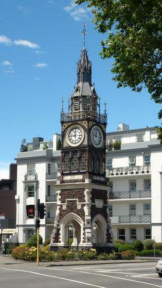 Victoria Diamond Jubilee Clock Tower, Christchurch, New Zealand Nz South Island, New Zealand South Island, Sistema Solar, Outdoor Clock, Unique Clocks, Old Clocks, Time Clock, Grandfather Clock, Kirchen