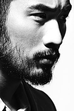 Godfrey Gao for Nuyou Black And White Drawing, Black White, Black And White Portraits, Tony Thornburg, Godfrey Gao, Asian Male Model, Creative Portraits, Thing 1, Fine Men