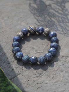 Buy Lapis Lazuli Beaded Diamond Silver Bracelet Online at Jaypore.com Bangle Bracelets, Bangles, Shopping Coupons, Lapis Lazuli, Blue And Silver, Diamond, Gold, Stuff To Buy, Jewelry