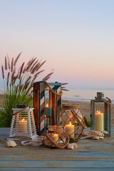 Pier handcrafted Rope Lantern has been tied up in knots just for you. And it lends a cottage accent wherever you feature it—inside or out. Coastal Style, Coastal Living, Coastal Decor, Parasols, Candle Lanterns, Candels, Beach Cottages, Beach House Decor, Beach Themes