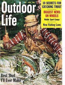 "Vintage Original 1960 Outdoor Life Magazine Cover Only ""Stream ..."