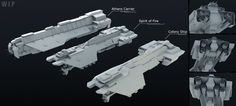 UNSC Phoenix Class Ships WIP by ~Annihilater102 on deviantART