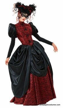 From Dracula costumes to female vampires and steampunk looks, we've got vampire costumes to suit any creature of the night! You'll save money and time when you buy vampire Halloween costumes from Costume Craze. Victorian Halloween, Victorian Costume, Victorian Era, Holiday Costumes, Halloween Costumes, Diy Costumes, Vampire Dress, Vampire Party, Apple Costume