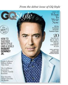 American GQ Style relaunches with a summer cover featuring Captain America: Civil War star Robert Downey Jr. The 51 year-old actor embraces the season at hand… Kevin Prince Boateng, Melissa Satta, Marley Family, Robert Downey Jr., Gq Style, Do Men, Male Magazine, Downey Junior, Tony Stark