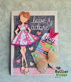 "The Rubber Buggy: ""Candie"" Card Paper Doll Craft, Prima Paper Dolls, Prima Doll Stamps, Doll Crafts, Julie Nutting, Valley Of The Dolls, Scrapbook Paper Crafts, Kids Cards, I Card"