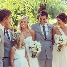 Elise & Domenic. Bride & Groom, love, marriage, wedding, suit, groomsmen.