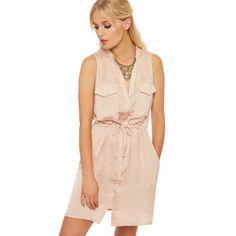 Sadie Sleeveless Belted Dress Top