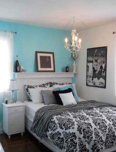 Tiffany Blue Demask! Love everything about this room!