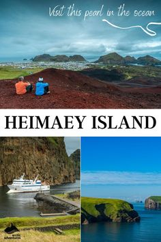 Heimaey, the biggest and the only inhabited island of the Westman Islands in Iceland, is a cheerful and vibrant spot that attracts locals and visitors year around. Heimaey's scenery is amazingly beautiful. From its volcanic landscape and moss-covered cliffs to its quaint houses and brightly colored roofs, this spot is sure to warm your heart. Iceland Travel Tips, Cultural Events, Arctic, Islands, Scenery, Coast, Hiking, Vibrant, Ocean