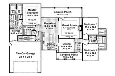 Home Plan HOMEPW76288 - 1818 Square Foot, 3 Bedroom 2 Bathroom Craftsman Home with 2 Garage Bays | Homeplans.com