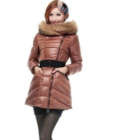 2012 new super raccoon collars belt cultivate one's morality han2 ban3 upset hooded medium style lady down jacket,only sale $95.54,free shipping.Collars, Optimizing the Siberian raccoon furs. Guard hair long, bottom wool rich and fine soft wear-resisting, gloss, pedal strong, heat preservation force is very strong.Bright colors like a beautiful scenery.